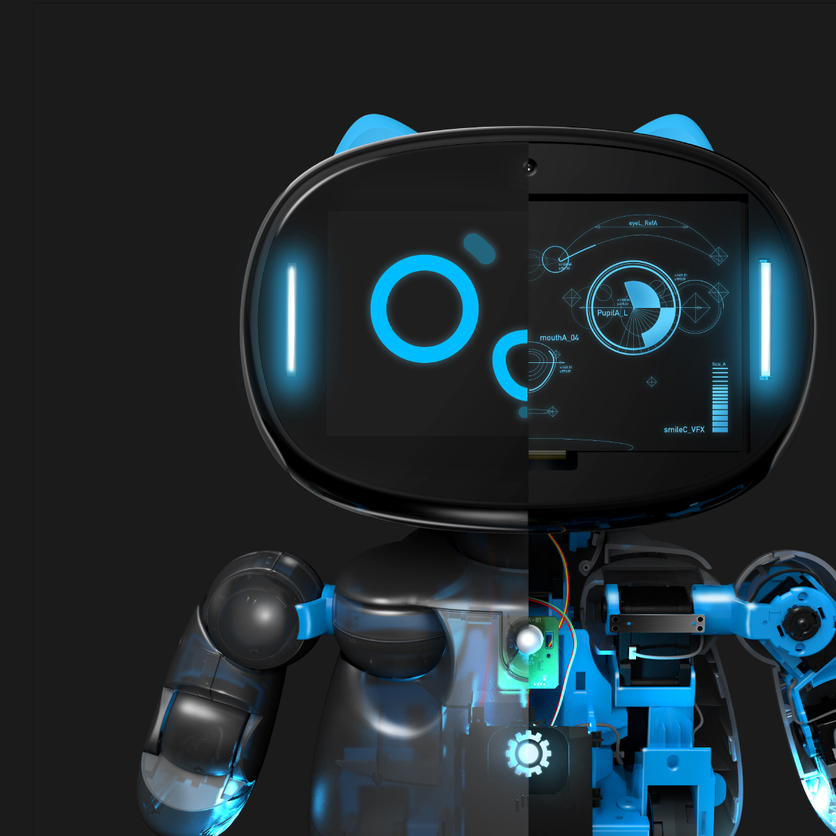 Kebbi Air S – Robot Creator 智能機器人組裝套件|組裝、外觀改造、智能互動、展演創作、創客開發